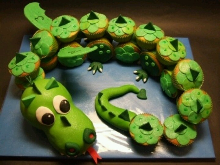 Dragon cupcake cake boys birthday ideas Pinterest ...