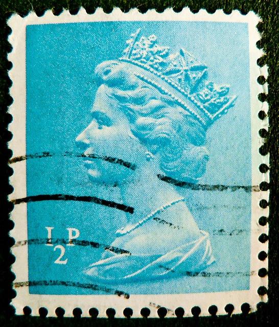 old stamp England GB UK 1/2p 0.5p Great Britain machin 1/2 half penny queen elizabeth II 2 QEII England Great Britain pence blue timbre francobolli bollo GB royal Windsor selos sellos United Kingdom UK | Flickr - Photo Sharing!
