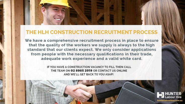 Construction Recruitment Sydney: The HLH Process | Hunter Labour Hire