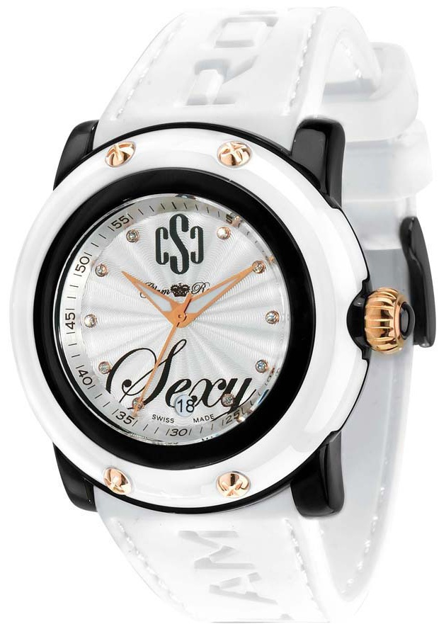 Price:$148.75 #watches Glam Rock GR61000, Add an understated look to your outfit with this unique and detailed Glam Rock watch. This timepiece offers a silver dial in black composite material case with white duramets cover.