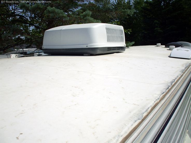 Regular cleaning will help reduce the amount of chalk buildup and help prevent the white stains seen on the sides of many older RVs. There are also a number of repair and patch kits on the market should you puncture your RV's rubber roof. Here's the inside scoop about rubber roofs.