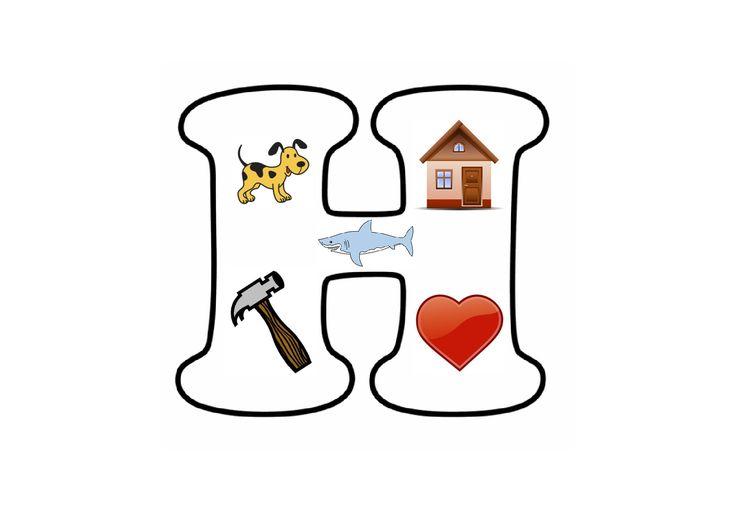 Letterpuzzel - Letter H