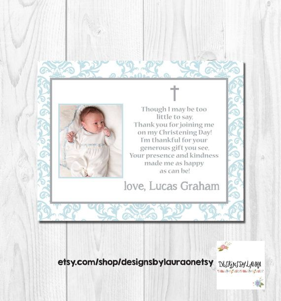 Printable Flat Thank You Note Card/ Baby by DesignsbyLauraonEtsy
