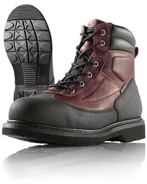 Wellco Mens Brown Resistor Steel Toe Slip Resistant 6 Inch Work Boots # 720