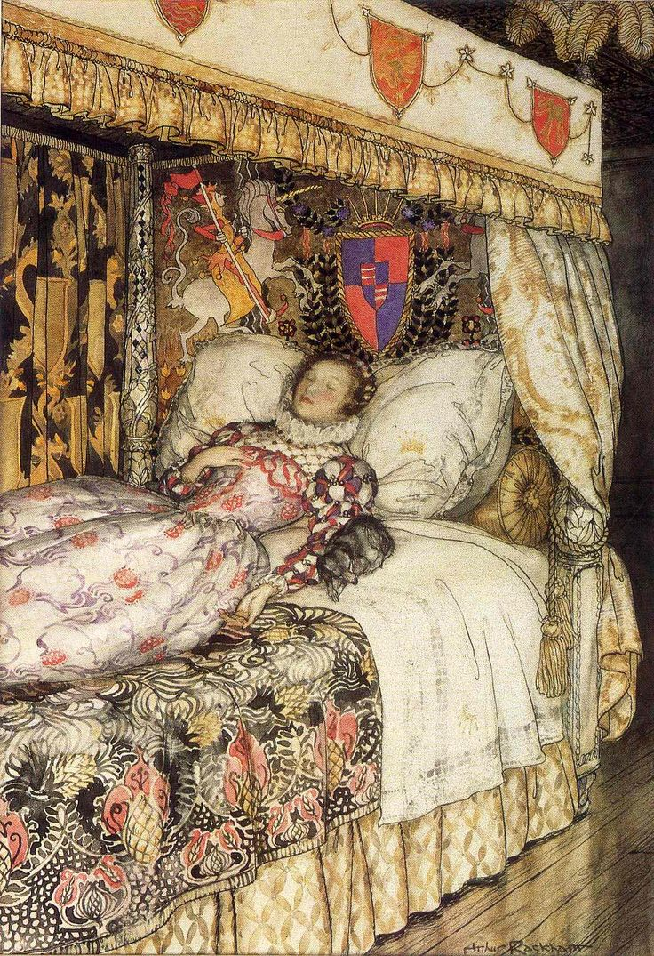 Image result for grimm's fairy tales, rackham, sleeping beauty
