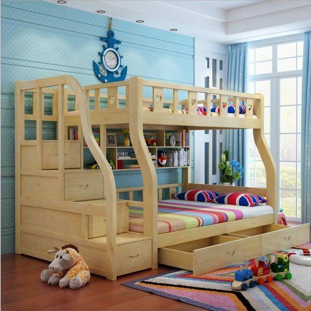 Webetop Niños Muebles de Dormitorio Camas Para Niños Y Niñas Castillo Cama Litera Para Niños Gemelos Doble Sola Cama del Desván