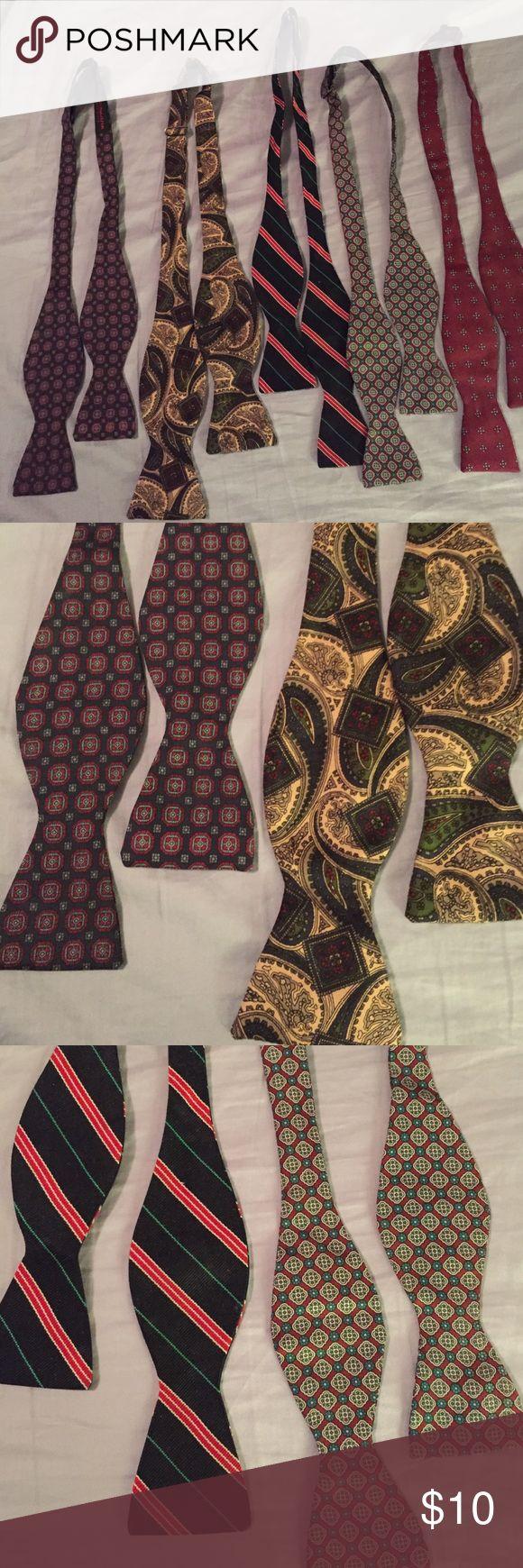 Five men's bow ties Men's bow ties of various patterns, adjustable neck sizes Accessories Ties