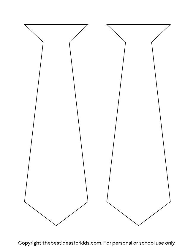 Tie Template The Best Ideas For Kids Tie Template Fathers Day Crafts Easy Fathers Day Craft