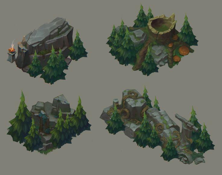 Forest landmarks, Stanislav Galai on ArtStation at https://www.artstation.com/artwork/forest-landmarks