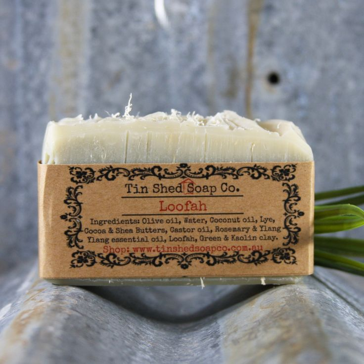 Handmade All Natural Loofah Scrub Soap. Cleanse and exfoliate in one step!