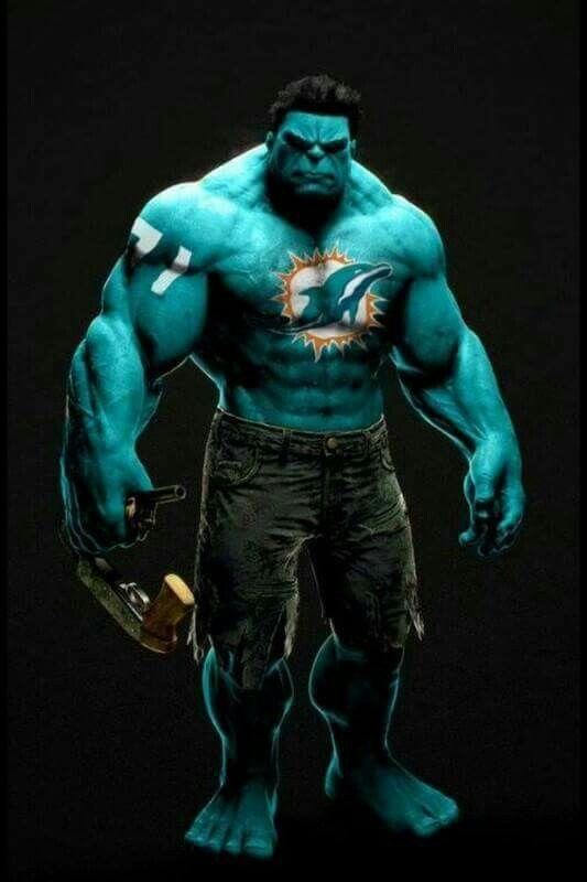 Hulk love Miami Dolphins.