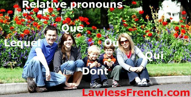 French relative pronouns
