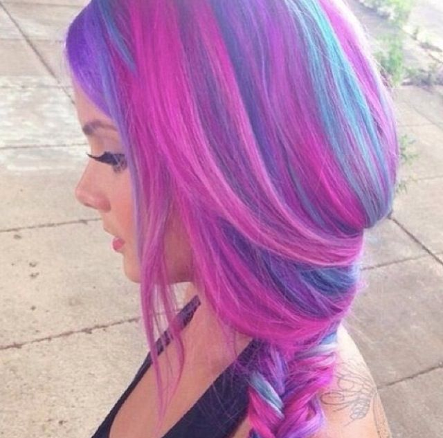 Purple, pink, and blue hair | Bonnaroo | Pinterest