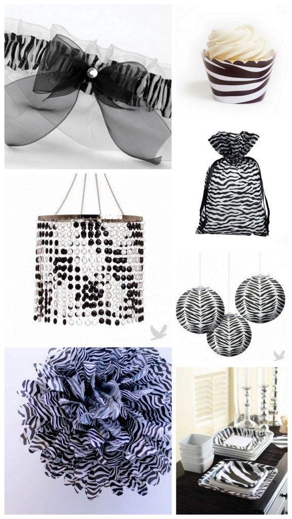 Safari Themed Wedding Ideas: Zebra Print Decor