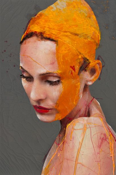 Lita Cabellut - Contemporary Artist - Portrait Painting - Impulse