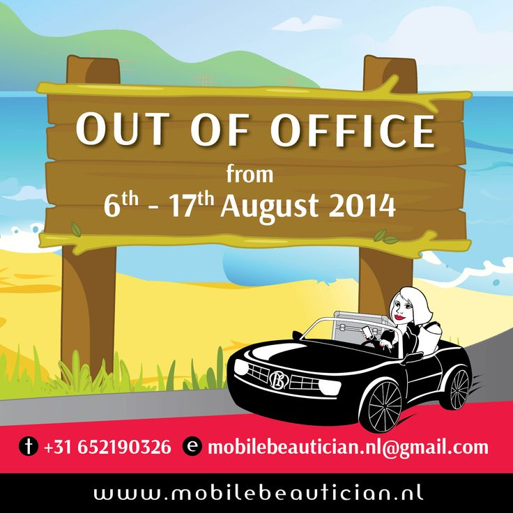 Mobile Beauticians Out of Office memo