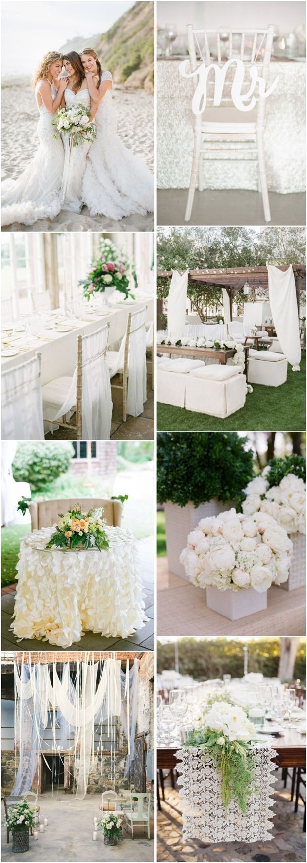 white wedding color ideas- vinatge wedding ideas