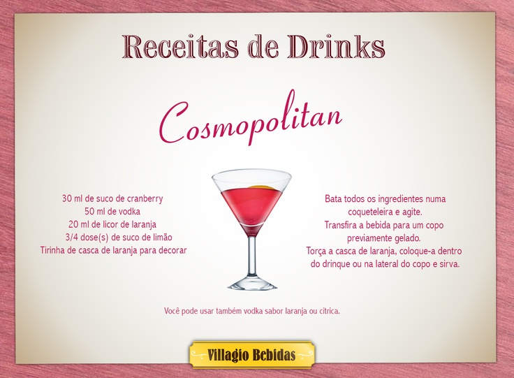 Rceitas Drinks - Villagio Bebidas