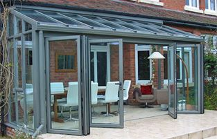 Bi-fold doors as an option to enclose my alfresco...will never afford, but, man, that's nice!