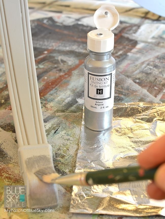 Silver Metallic Paint by Fusion Mineral Paint- Silver Tinting Kit can be used as a straight on metallic paint, or can tint your paint colours to have a shimmer of glam!