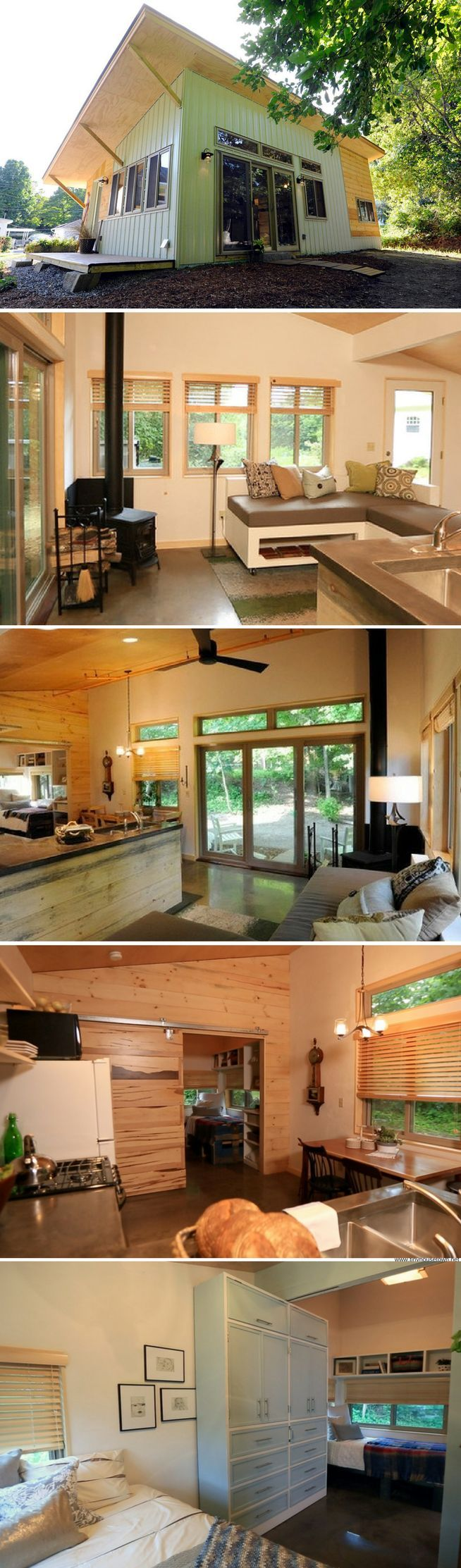 Vermont Chalet: a 493 sq ft family home in Montpelier