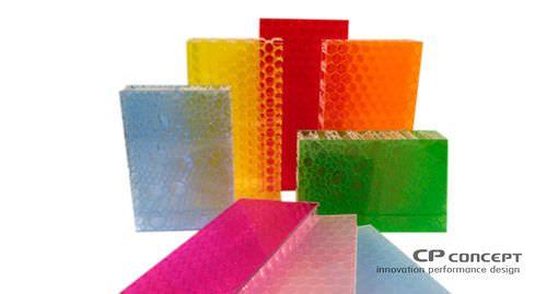 Pannello decorativo per arredamento interni / in composito PANNEAUX COMPOSITES ALVEOLES CP Concept