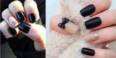 Υπέροχα μαύρα νύχια που ξεχωρίζουν!!!   EimaiOmorfi.gr