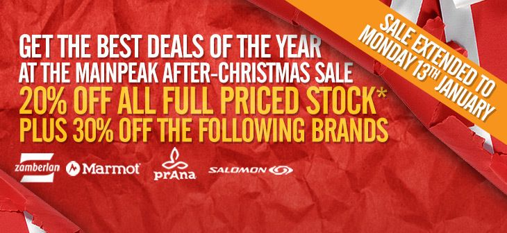 POST CHRISTMAS DEALS! Save 20% off store-wide and 30% off selected brands. - SALE FINISHED