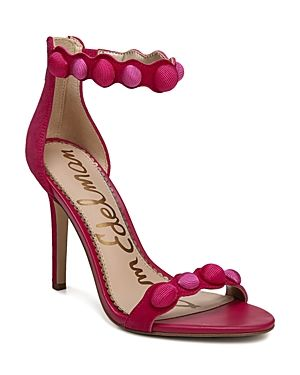 c0b09bbf5ca SAM EDELMAN WOMEN S ADDISON SUEDE HIGH HEEL ANKLE STRAP SANDALS.   samedelman  shoes