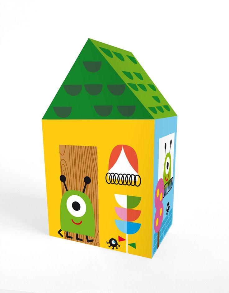 "Casita automontable / Self-assembly little house ""Martian house"". Printable http://es.dawanda.com/shop/linavila"