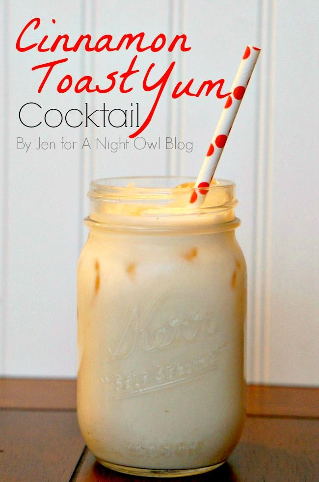 Oh my goodness I love Cinnamon Toast Crunch - and in cocktail form? Yes, please!