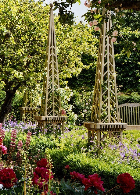 17 best images about fences gates arbors pergolas for Garden obelisk designs