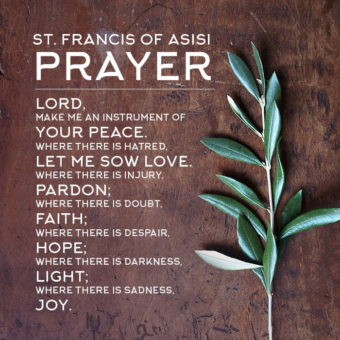 St. Francis of Asisi Prayer