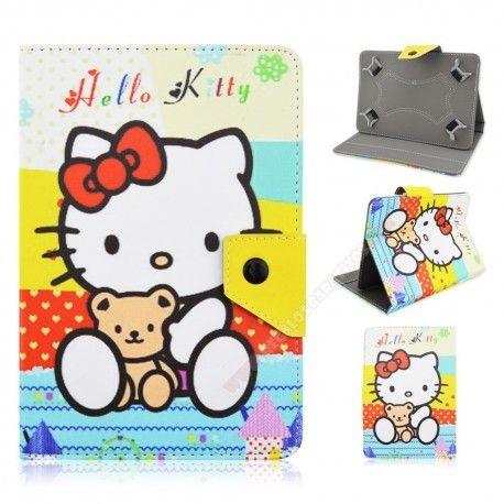 Funda para tablet de 10 pulgadas diseño Kitty con su osito