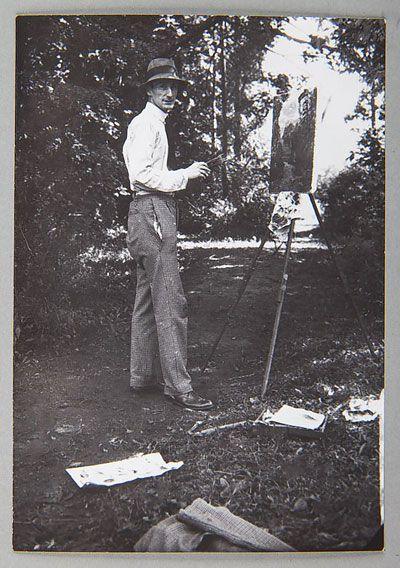 Józef Czapski w latach 1920-1939, zdjęcie z archiwum Grzegorza Przewłockiego