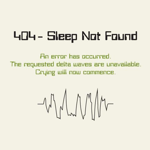 HTTP 404 Sleep Not Found One-piece
