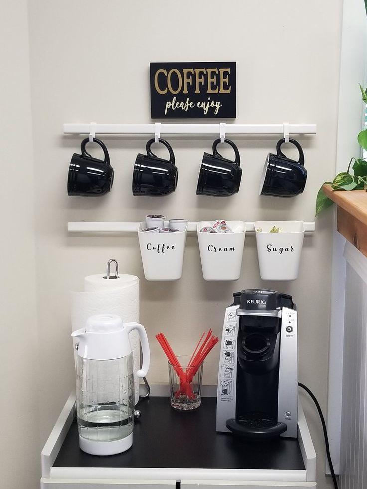 Coffee Bar Using Ikea Sunnersta Railing Less Expensive