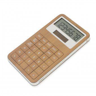 Lexon Tischrechner Safe bambus | design3000.de