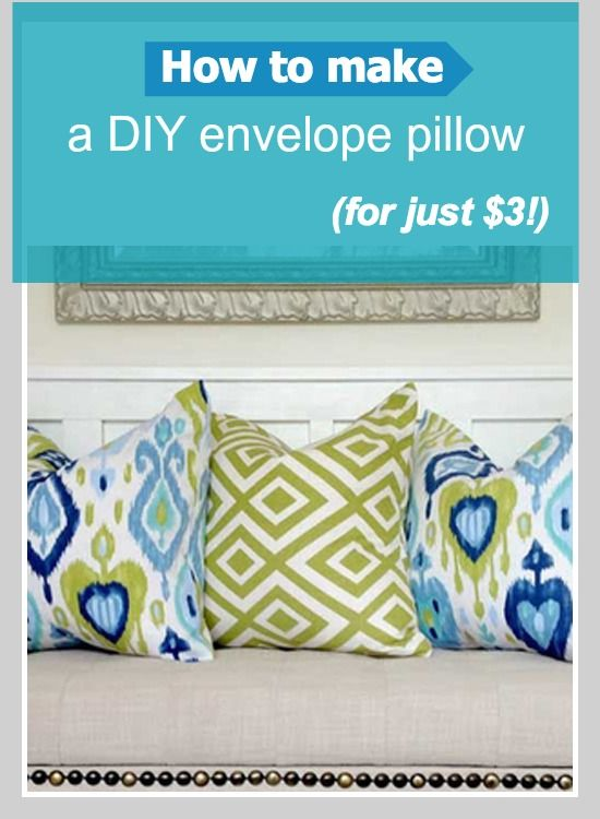 Easy no-sew project: How to make a DIY envelope pillow for just $3