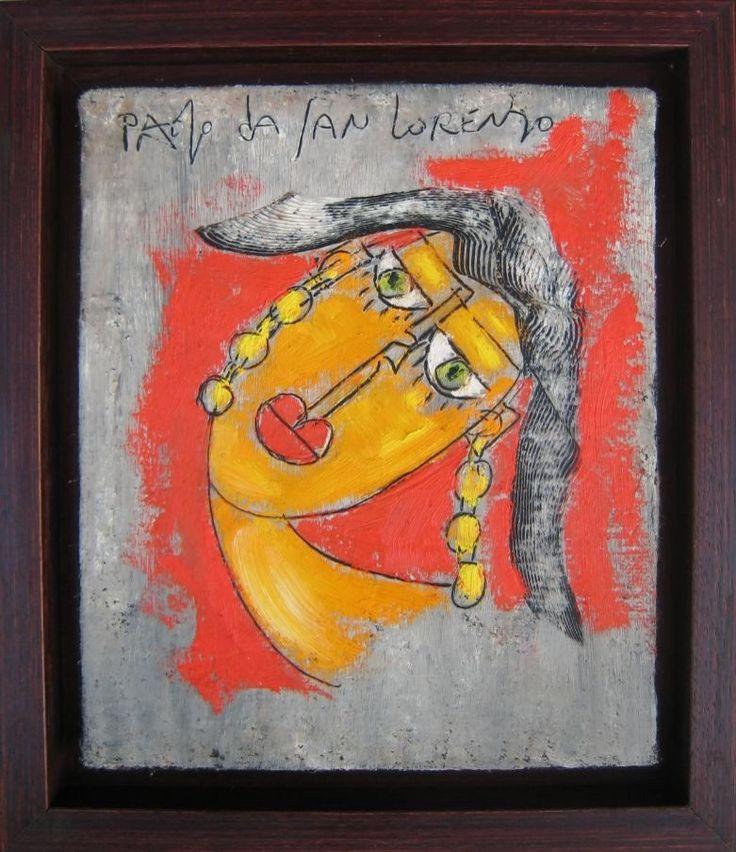 Gaaf origineel werkje van de bekende Italiaanse kunstenaar Paolo da San Lorenzo. Het stuk is 1 van een serie wat kleinere stukken die we van deze bijzondere kunstenaar aan onze collectie hebben mogen toevoegen. De stukken zijn prachtig door het kenmerkende gebruik van helder gekleurde olieverf op ruw canvas doek. Ook in deze serie kleinere werken zijn de contacten van da San Lorenzo met de grootmeester Pablo Picasso zichtbaar, maar de krachtige eigen stijl van de kunstenaar voert toch…