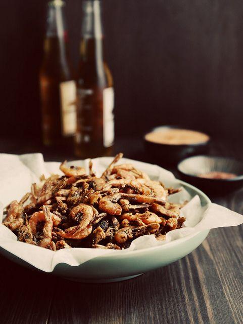 Spicy School Prawns with Kimchi Mayonnaise & Paprika Salt #cheffed