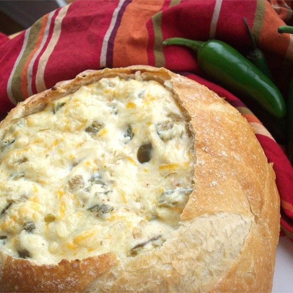 "Insanely Amazing Jalapeno Cheese Dip | ""Oh wow this is great! I use this as my go to dip when I need to take something to a party. When I serve this dip there is nothing left not even the bread bowl."""