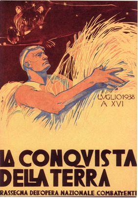 By Duilio Cambellotti (Roma, 1876-1960), 1937, La conquista della terra. (I)