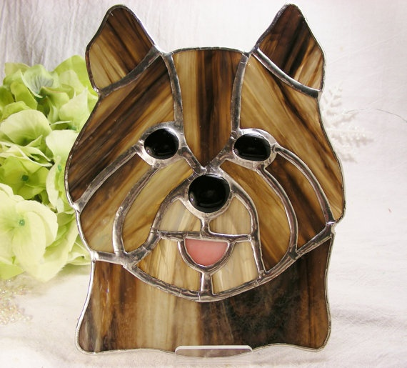 Stained Glass Terrier by MoreThanColors on Etsy, $68.00