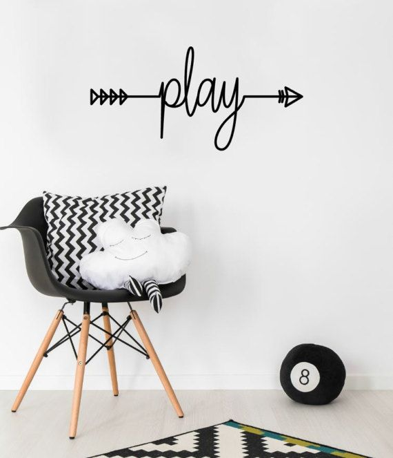 Play wall decal playroom wall decal inspirational wall decal play sticker kids