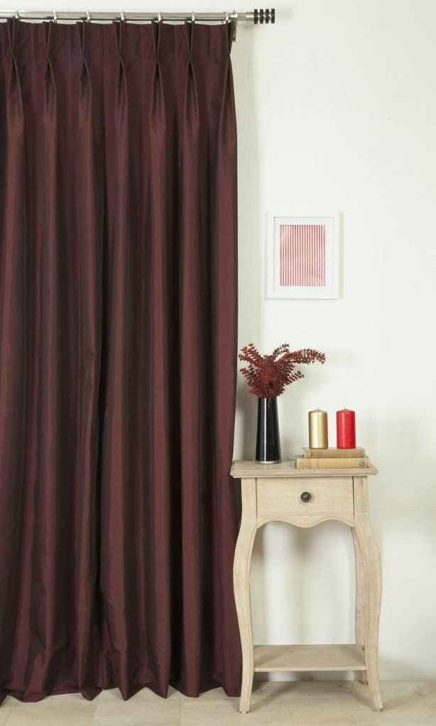 'WESTON BERRY BURGUNDY' MADE TO MEASURE DRAPES (RED) $46.00  https://www.spiffyspools.com/collections/silk-curtains/products/weston-berry-burgundy-curtains?variant=1821060268056