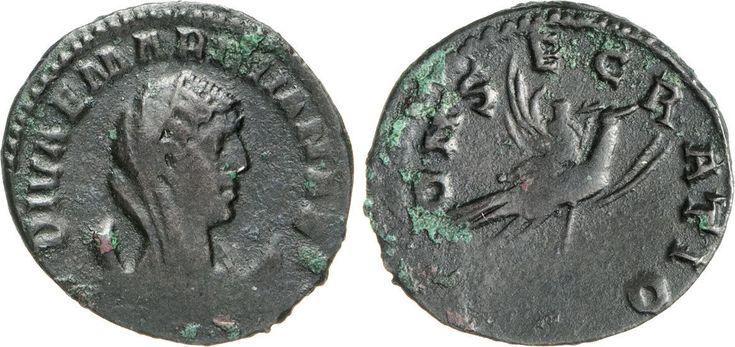 NumisBids: Numismatica Varesi s.a.s. Auction 65, Lot 249 : MARINIANA (moglie di Valeriano) Antoniniano. D/ Busto velato su...