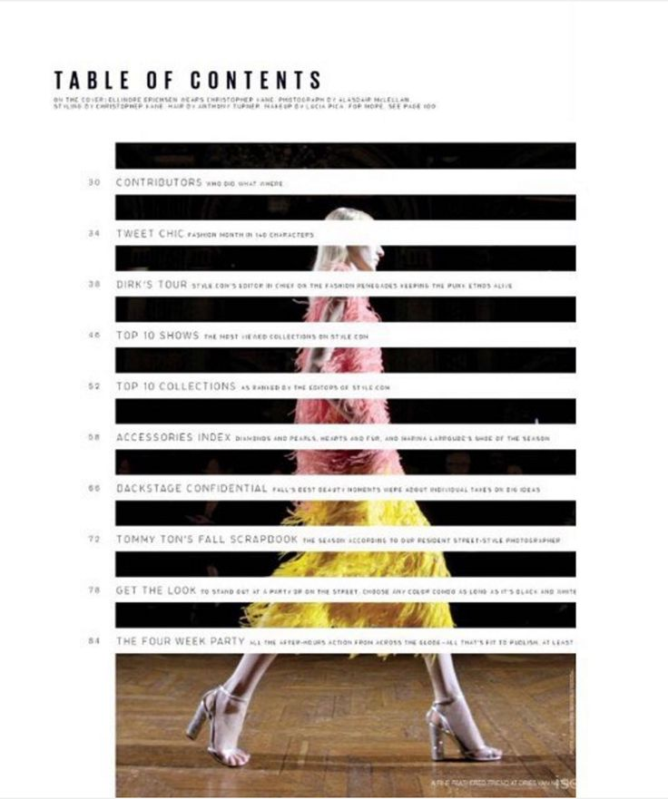 Give your readers beautiful direction with the perfect table of contents.