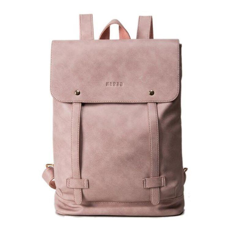 Simple mode doux PU femmes en cuir sac à dos sacs d'école pour adolescent filles double ceinture étudiants sac d'ordinateur portable sac à dos Mochila dans de sur AliExpress.com | Alibaba Group