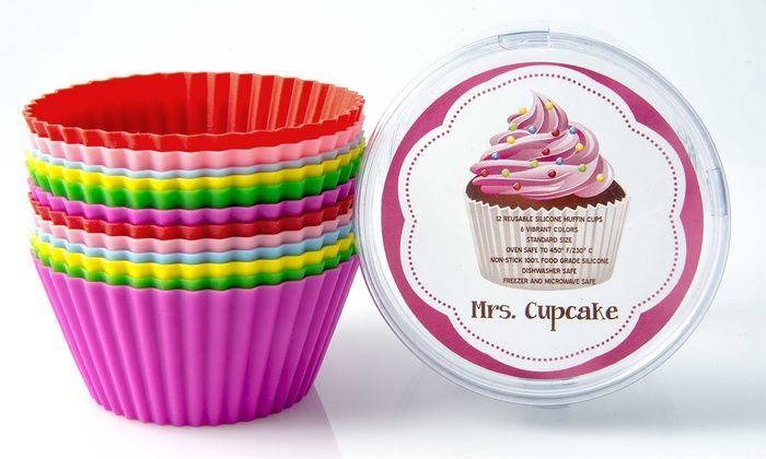 Mrs. Cupcake Silicone Cupcake Liners (12-Pack): Mrs. Cupcake Silicone Cupcake Liners (12-Pack)